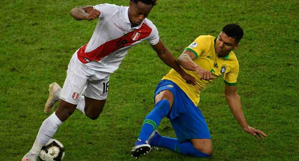 André Carrillo podría repetir este duelo de la final de la Copa América 2019. (Foto: AFP)