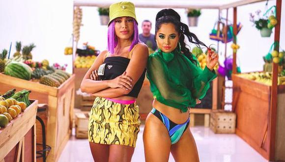 """Becky G y Anitta hicieron bailar a todos con """"Banana"""". (Foto: Warner Music)"""