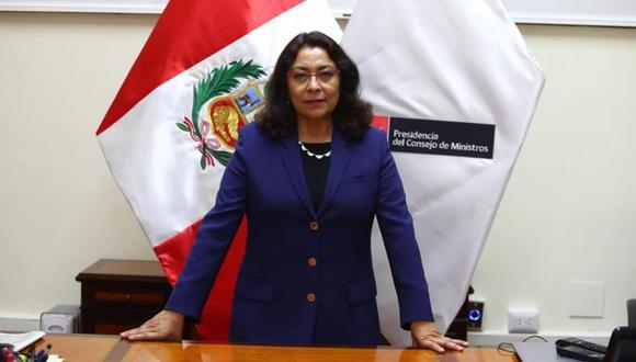 La abogada constitucionalista Violeta Bermúdez asumió la PCM el último miércoles. (Foto: Alessandro Currarino / El Comercio)