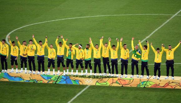 Brasil ganó la medalla de oro en fútbol en los Juegos Olímpicos 2016 que ellos organizaron. (Foto: Agencias)
