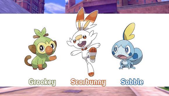 Grookey, Scorbunny y Sobble serán los pokémon iniciales. (Captura de pantalla)