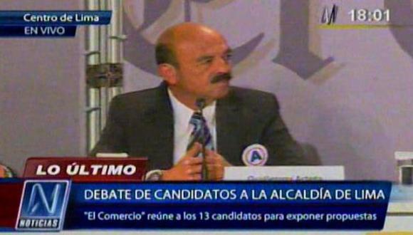 """Arteta en debate: """"Garantizamos obras sin robar ni estafar"""""""