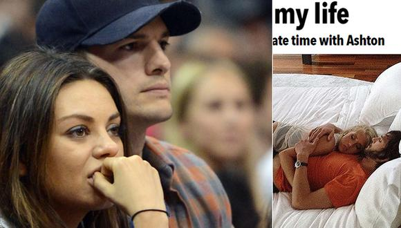 ¿Ashton Kutcher le fue infiel a Mila Kunis?