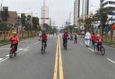 Av. Brasil: carril central fue abierto desde hoy al tránsito en bicicleta y de deportistas