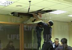 Rusia: sospechoso de asesinato intentó escapar por el techo de un juzgado en Moscú | Video
