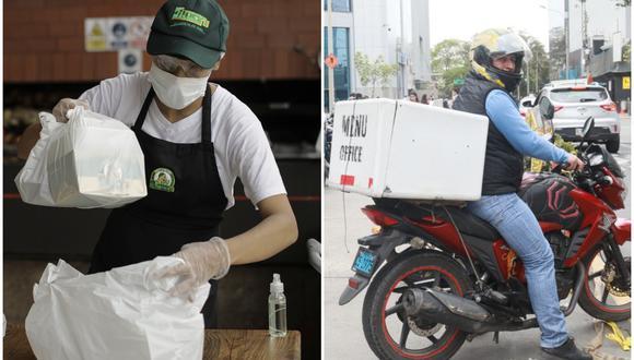 Restaurantes adaptan sus servicios al protocolo sanitario aprobado por el Gobierno para operar por delivery.  (Fotos: Joel Alonzo/GEC)