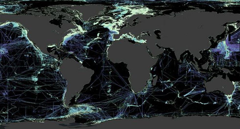 Las zonas negras del mapa aún necesitan ser sondeadas para obtener más información de ellas. (Imagen: NIPPON FOUNDATION-GEBCO SEABED 2030 PROJECT)