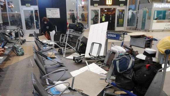 Se reportaron daños en el aeropuerto internacional Jorge Chávez tras sismo de 6,0 en Lima.