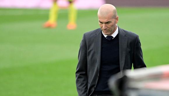 Zinedine Zidane deja el banquillo del Real Madrid. (Foto: AFP)