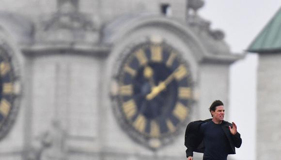Tom Cruise (55) corrió sobre el puente de la estación de trenes Blackfriars. (Foto: AP)
