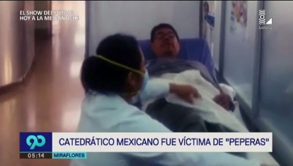 Catedrático mexicano fue víctima de 'peperas' en Miraflores