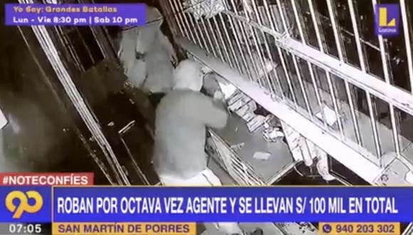 Según relató uno de los dueños al noticiero de Latina, los delincuentes se llevaron dinero en efectivo y equipos de cómputo. Foto: captura de pantalla