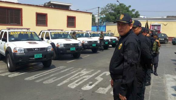 San Jacinto: refuerzan custodia en centro de autopartes robadas