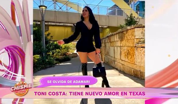 Evelyn Beltrán luciendo un vestido corto y entallado a su exuberante figura con una botas de color negro (Foto: Chisme en vivo)
