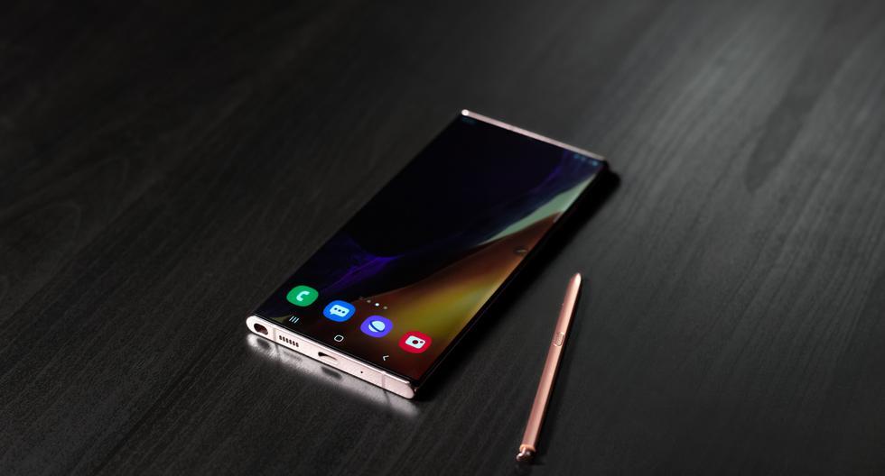 El 5 de agosto fue presentada desde Corea del Sur la nueva Serie Galaxy Note20 de Samsung. Entre los dispositivos lanzados se cuentan el Galaxy Note20 Ultra (en la foto) y el Galaxy Note20. También las tabletas Tab S7 y S7+,  los auriculares Galaxy Buds Live y el Smart Watch3 (Fotos: Samsung).