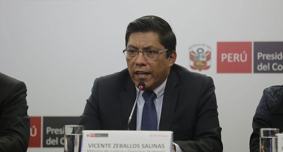 """""""El Ejecutivo no suspende la elección de magistrados del TC, se planteó una cuestión de confianza para que el Congreso lo haga"""", indicó Zeballos. (Foto: PCM)"""