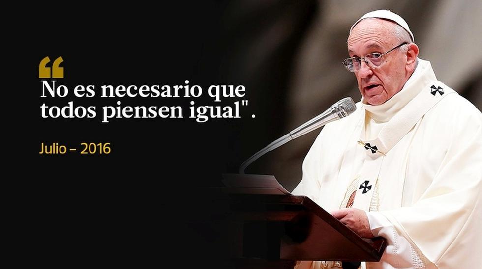 Las frases más polémicas del papa Francisco en el 2016 - 4