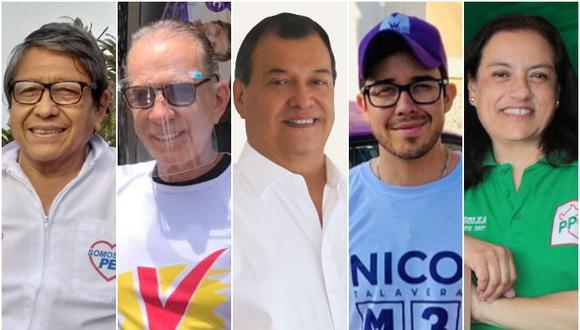 Algunos candidatos se quedan en el camino pese a haber obtenido amplio respaldo electoral. (Fotos: Prensa de los postulantes)