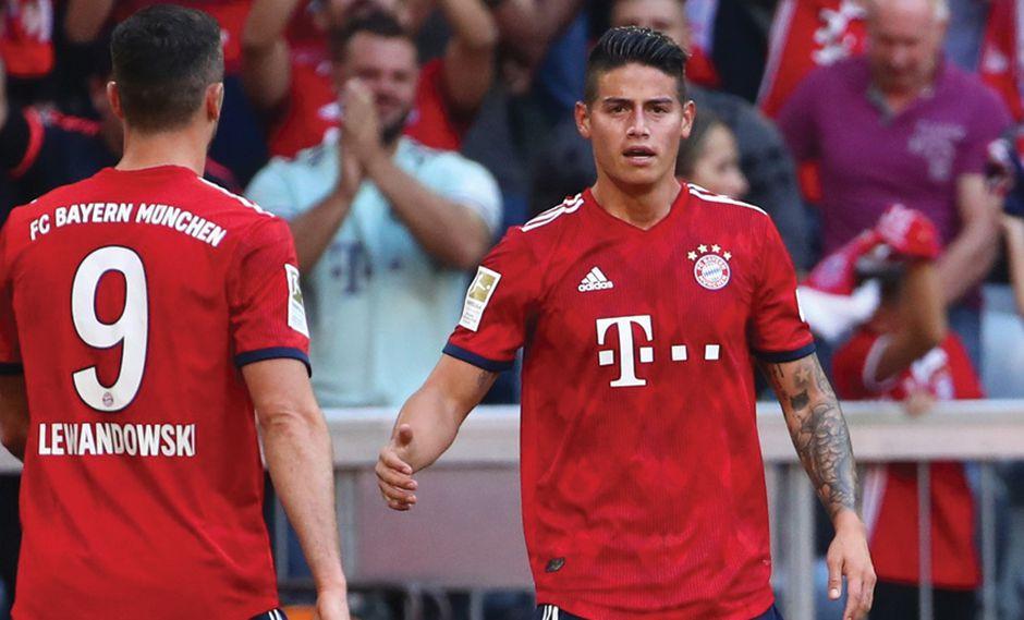 James Rodríguez cerró la cuenta en el Bayern Muhic vs. Bayer Leverkusen. (Foto: Reuters)