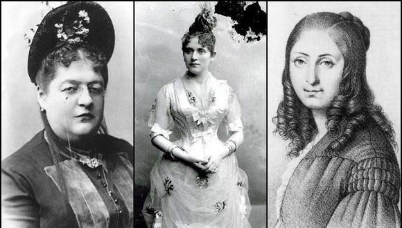 Clorinda Matto de Turner, Zoila Aurora Cáceres y Flora Tristán, tres pensadoras que influyeron en la historia del Perú y abogaron por la igualdad de los géneros. (Foto: Dominio Público)