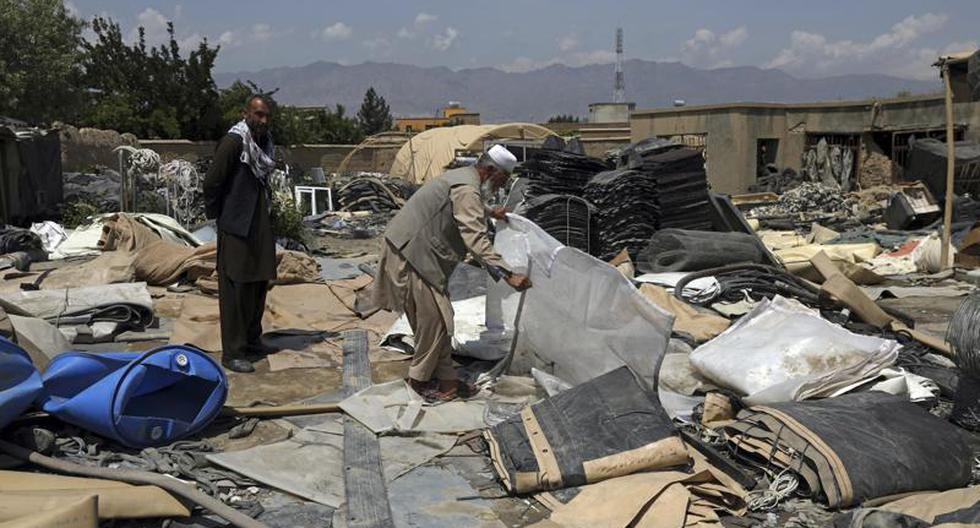 The United States leaves tons of scrap metal in its withdrawal from Afghanistan