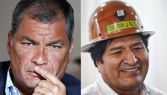 Rafael Correa mantuvo buenas relaciones con Evo Morales, cuando estos fueron presidentes de Ecuador y Bolivia, respectivamente. (Foto: EFE).