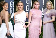 Globos de Oro 2020: el rosado y el blanco, entre los colores que dominaron los premios