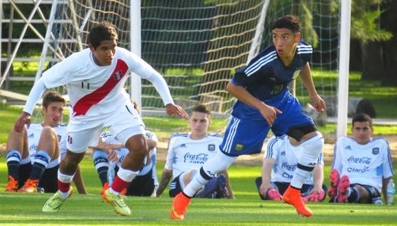 Selección peruana Sub 20 cayó 3-1 ante Argentina en amistoso