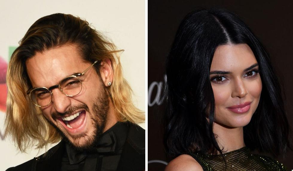 Maluma y Kendall Jenner se conocieron cuando participaban en una campaña publicitaria. (Composición con fotos de AFP)