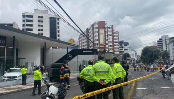 Los hechos ocurrieron entre las 9.00 y las 10.00 de la mañana (14.00-15.00 GMT), cuando Salcedo circulaba en un auto. (Foto: Policía Nacional de Ecuador)