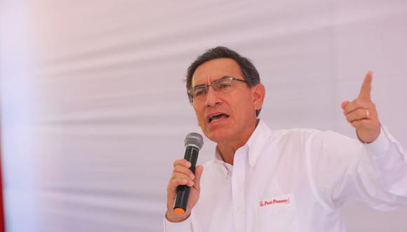 El presidente Martín Vizcarra reiteró su posición de que el dinero de Odebrecht sea retenido. (Foto: Presidencia)