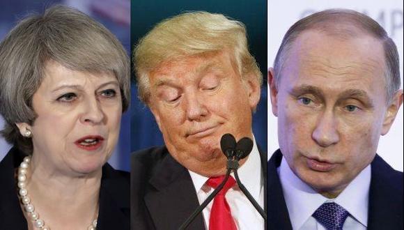 """May aconsejó a Trump """"tener cuidado"""" con Putin"""