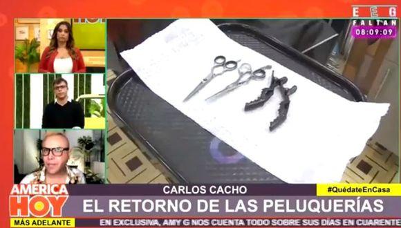 """Carlos Cacho indignado con medida que permite que estilistas atiendan en domicilios: """"Incentiva la informalidad""""   (Foto: captura)"""