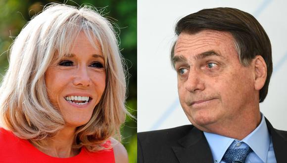 Jair Bolsonaro niega haber insultado a Brigitte Macron, esposa del presidente de Francia Emmanuel Macron. (AFP).