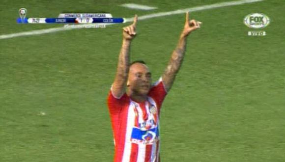 Jarlan Barrera anotó el primer gol de Junior frente a Colón   Foto: Captura