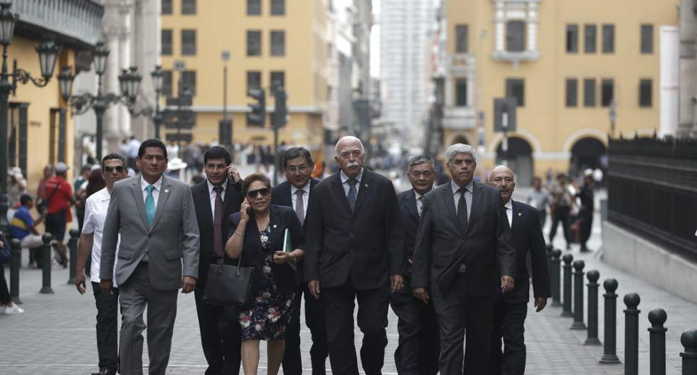 Bancada de Fuerza Popular se reúne con el primer ministro Salvador del Solar. (Foto: Renzo Salazar / GEC)