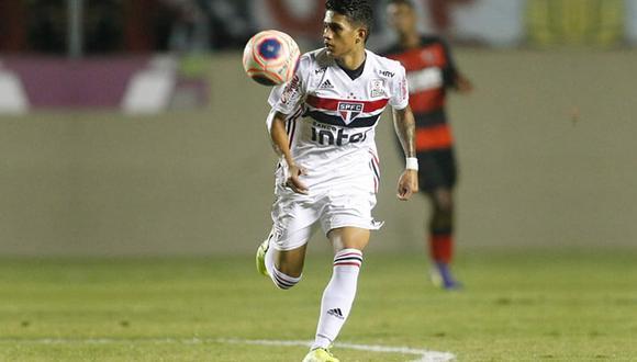 Gustavo Maia juega como extremo en el Sao Paulo brasileño. (Foto: Twitter)