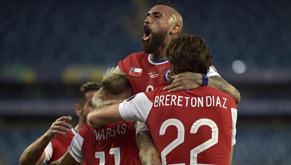 Tras el empate, Chile aseguró su clasificación a cuartos de final de la Copa América.   Foto: AFP