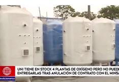 UNI revela no poder entregar plantas de oxígeno tras anulación de contrato con MINSA