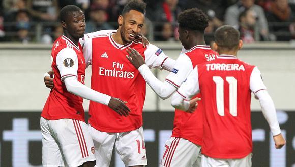 Arsenal goleó al Eintracht Frankfurt en Alemania, en su debut en la Europa League. (Foto: AFP)