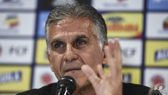 Carlos Queiroz es entrenador de Colombia desde febrero del 2019. (Foto: AFP)