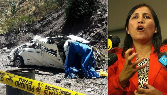 La ministra de Educación, Flor Pablo, señaló que el vehículo que se despistó y cayó a un abismo en Chicla, en Huarochirí, no tenía la autorización para realizar viajes interprovinciales. (Fotos: GEC)