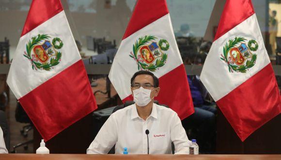 El presidente Martín Vizcarra encabeza la sesión 128 del Acuerdo Nacional. (Foto: Presidencia)
