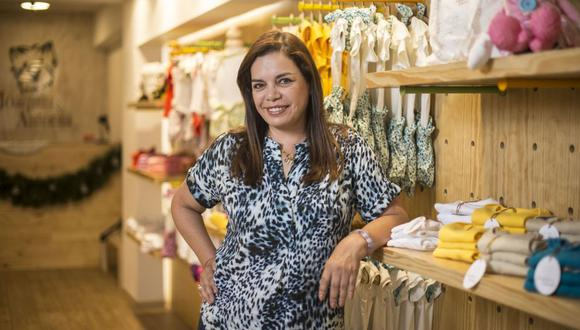 Leiva inauguró a fines de diciembre una tienda de ropa para bebés llamada Joaquín&Antonia, en el centro comercial Caminos del Inca. (Foto: Elías Alfageme)