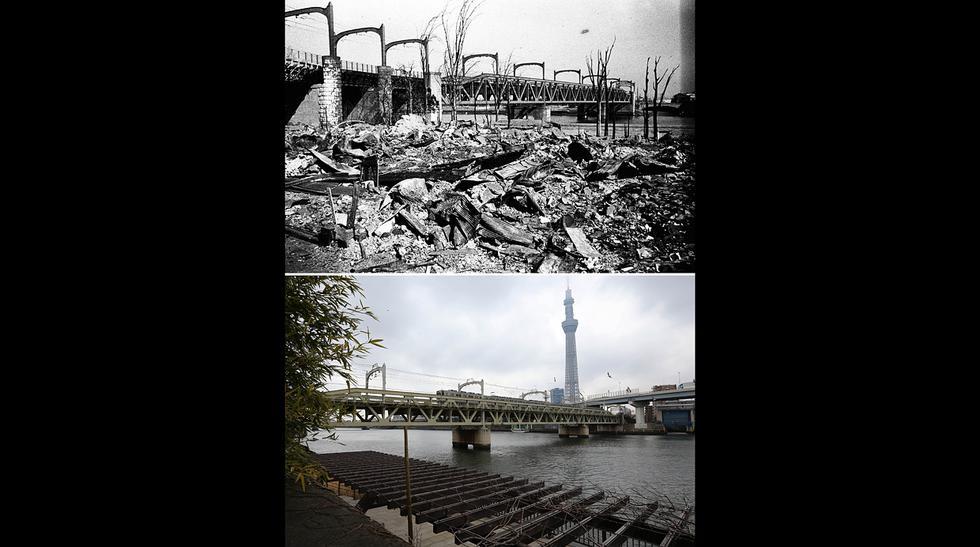 Tokio antes y después de brutal bombardeo ocurrido hace 70 años - 5