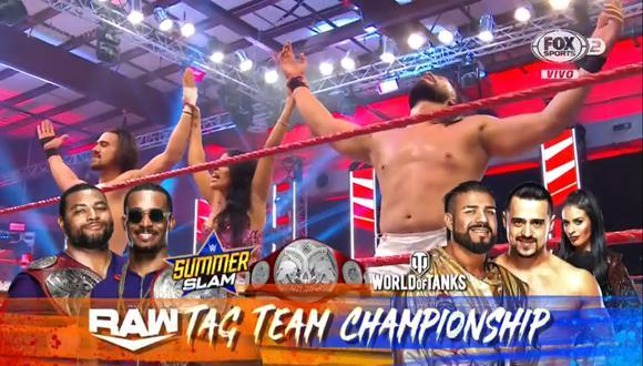 La dupla mexicana tendrá una oportunidad por los campeonatos en pareja en Summerslam. (WWE)