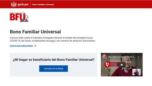 El Segundo Bono Familiar Universal de 760 soles busca ayudar a 8.4 millones de hogares peruanos (Foto: Andina)