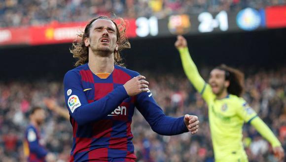 Antoine Griezmann anotó nueve goles con el Barcelona en LaLiga Santander.
