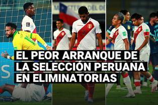 """Este es el peor arranque de la selección peruana en las Eliminatorias con formato """"todos contra todos"""""""