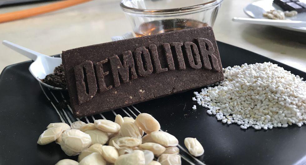 Demolitor es una barra energética para deportistas a base de larvas de escarabajo y productos altoandinos. (Foto: EntoPiruw)